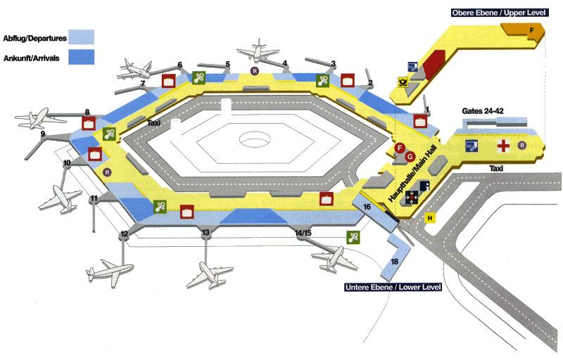 Схема аэропорта Ганновера