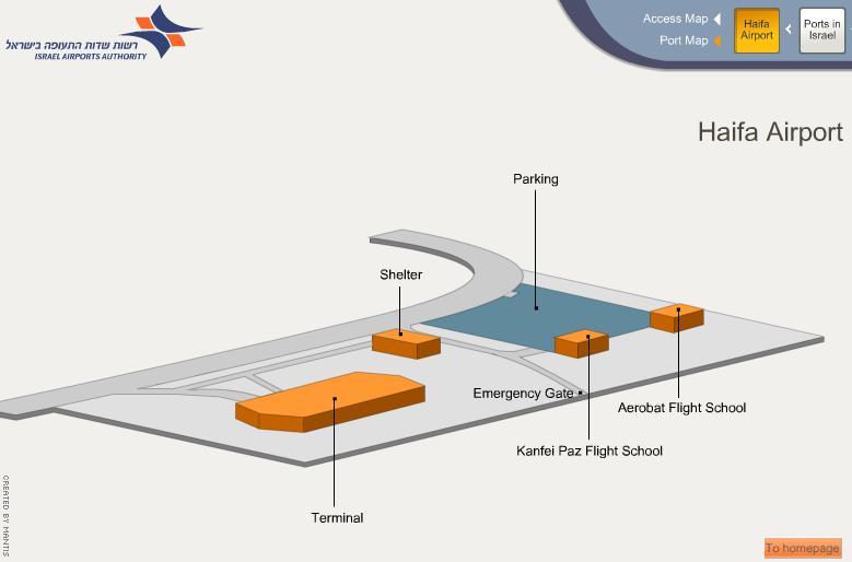 Схема аэропорта Haifa