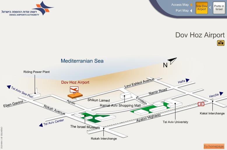 Схема аэропорта Dov Hoz